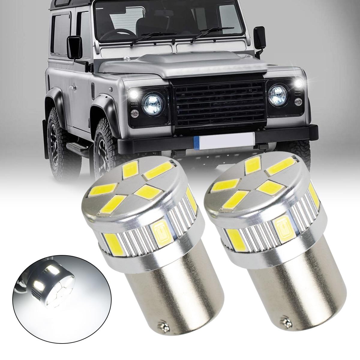 Для Land Rover Defender 2,5 207 R5W 11-светодиодный Ксеноновые белые боковые лампы обновленные лампы для парковочных фар