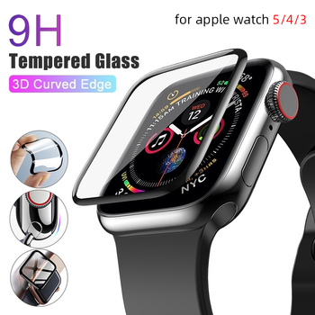 PET & PMMA Full Cover 3D Curved Tempered Glass Screen Protector Film for Apple Watch Series 5 4 3 44mm 38mm 40m 42mm for Iwatch 3d curved full cover tempered glass film for apple watch 40mm band flim screen protector for iwatch series 4
