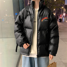 Jacket Men's Winter Bread Jackets Short Coat Stand-up Collar Warmth Thicken Windproof Harajuku Style Tops Casual Male Clothes