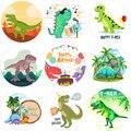 Наклейки для вечеринки динозавра, украшения на день рождения, наклейки с динозавром на день рождения
