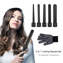 Professional 5 in 1 Ceramic Hair Curler 09-32mm Curling Iron Hair Waver Curling Wand Hair Electric Curl Styling Tools Curler eas ufree curling iron hair professional hair curler electric styling tool lcd display ceramic hairdressing magic wand stick