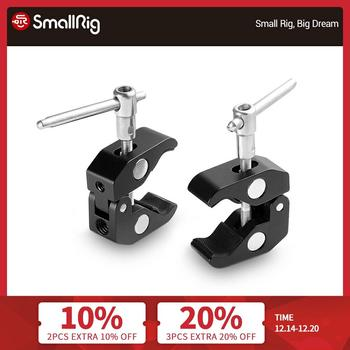 smallrig dslr camera rig mounting plate for dji ronin s with quick release nato rail 1 4 thread holes arri 3 8 holes 2214 SmallRig Super Clamp with 1/4 and 3/8 Thread (2pcs Pack) For Dslr Camera Cage LCD Monitor LED Quick Release Clamp - 2058