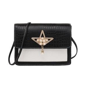 2020 New Women's Shoulder Bag Fashion Wild Pearl Tassel Decor Small Flap Bag PU Crossbody Bags Female Coin Purse Handbags