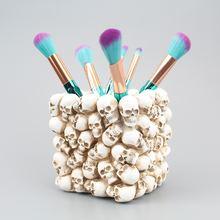 Креативный держатель для ручек в виде черепа растения горшке