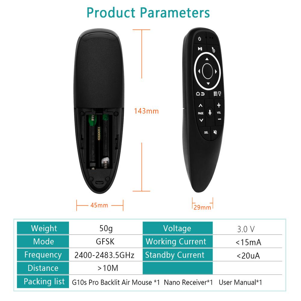 H41e195007fc34d1b88e1511f3c746494E G10 Remote Control 2.4GHz Wireless Air Mouse