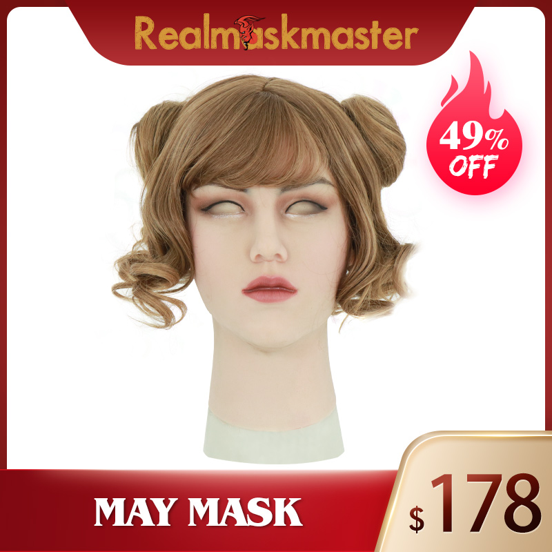 Roanyer mai latex masques sexy masque en silicone réaliste pour cosplay crosscommode transexuelle halloween transgenre