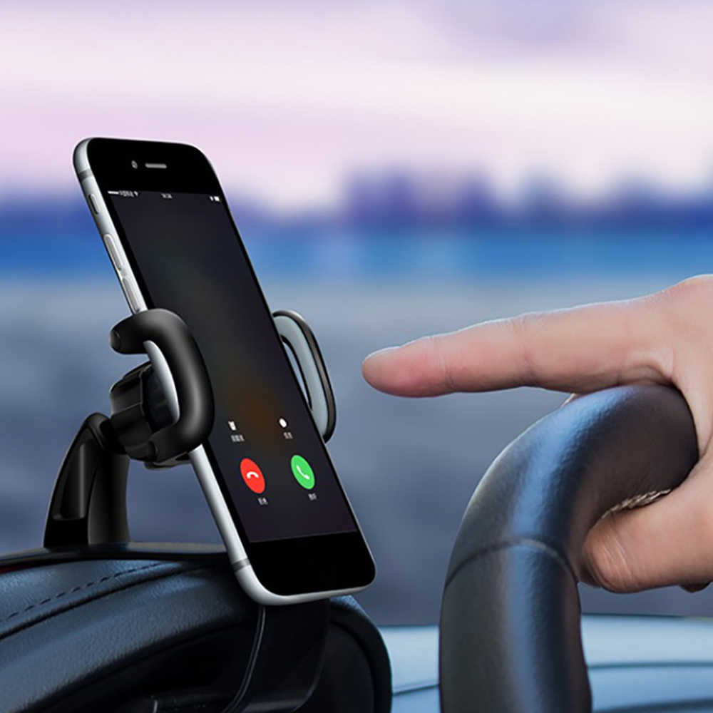 Pemegang Ponsel Mobil Dashboard Mount Dudukan 360 Rotasi Universal GPS Bracket Display untuk iPhone Xiaomi Samsung Huawei