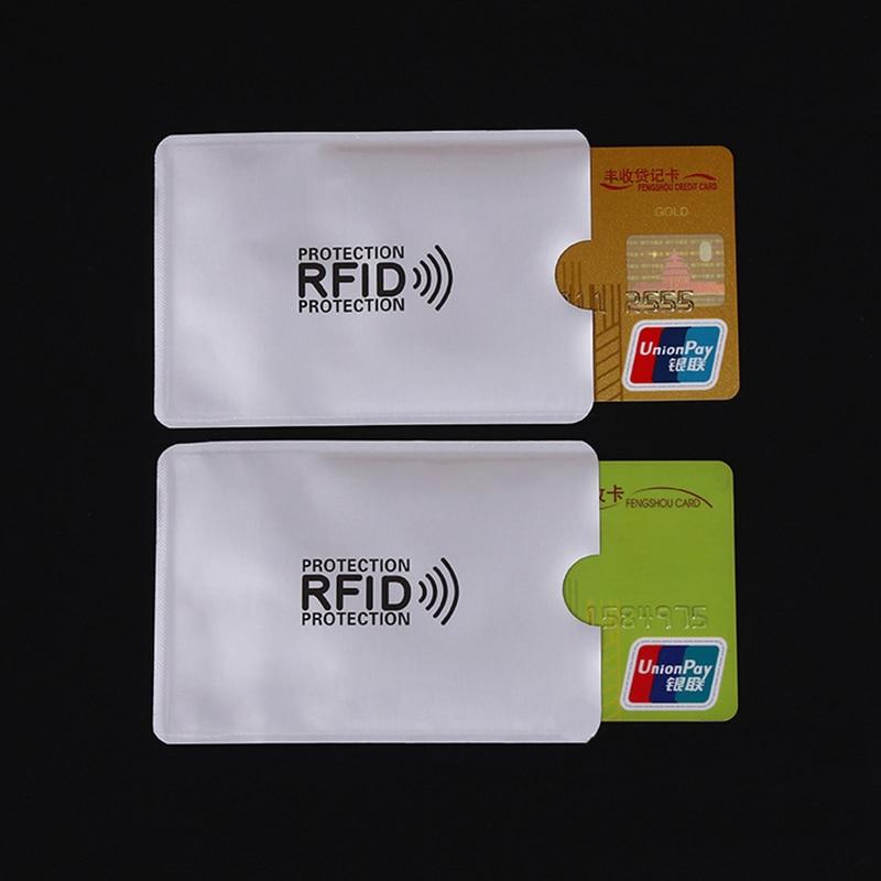 5pcs Anti Rfid Blocking Reader Lock Card Holder ID Bank Card Case Rfid Protection Metal Credit Card Holder Aluminium Porte Carte
