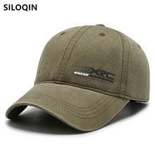 Siloqin nova unisex casual esportes boné de beisebol de algodão lavável para homens e mulheres tamanho ajustável boné de pesca snapback chapéus