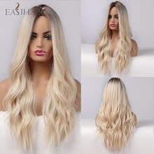 Easihair Омбре пепельница блонд парики длинные водная волна