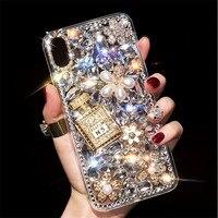 Capa para iphone 11 xr 7 8 11 pro max x xs max plus 6s capa frasco de perfume strass