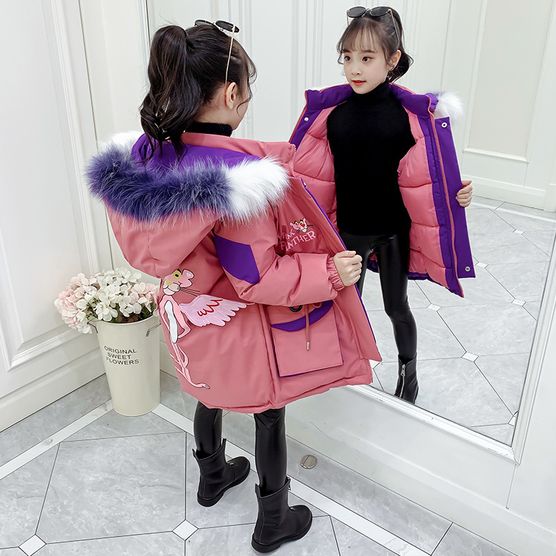 Ski Suit for Girls Hooded Russian Winter Coat Kids Winter Jacket For Baby Girls Snowsuit   Parka   For Teenage With Wings Clothes