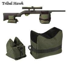 Ao ar livre saco de tiro sniper frente saco traseiro alvo suporte rifle banco saco de areia sem enchimento 600d oxford caça rifle resto