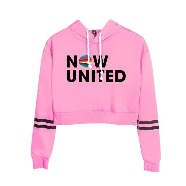 Now United Crop Top Hoodies Harajuku Japanese Anime Uzumaki Printed Hoodie Women Streetwear Fashion Cropped Sweatshirt Coat 28