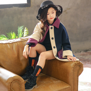 Image 2 - Модное Трендовое пальто для девочек, молодежное энергичное Детское пальто, живое милое пальто для девочек, хлопковое пальто с отложным воротником, полная одежда для девочек из полиэстера