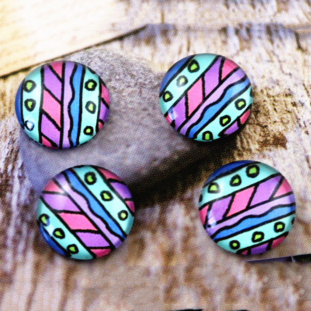 New Fashion  20pcs 12mm Handmade Photo Glass Cabochons   (E7-45)