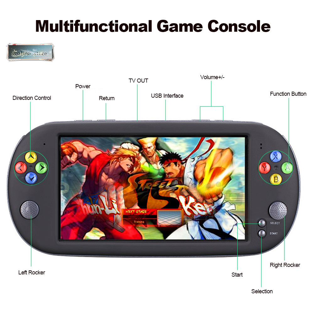 2019 7 Inch Portable Game Console Handheld With 1500 Free Retro Mini Games For Neogeo Arcade Video Game For Snes 16 Bit Console Handheld Game Players Aliexpress