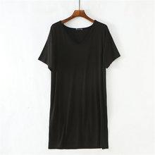 Женские ночные рубашки с разрезом сбоку ночная рубашка средней