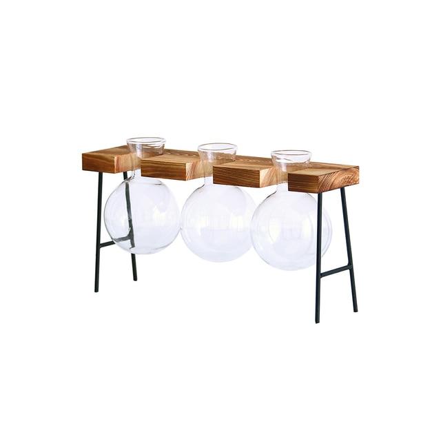 Fashion Hydroponic Vase Borosilicate Transparent Glass Bulb Vase Mini Garden Water Planting Propagation Stations Home Decor Gift 3