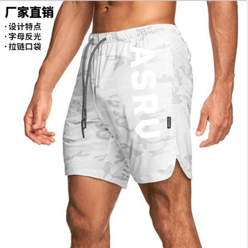 Clearance SaleASRVMens Gyms Training Shorts Men Sports Casual Clothing Fitness Workout Running Grid quick-drying compression Shorts Athletics