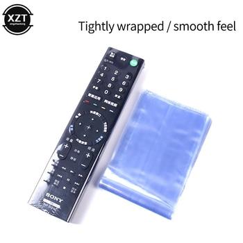 10Pcs Clear Shrink Film Bag TV/Air Condition Remote Control Transparent Case Cover Protective Anti-dust Controller Bag 6/8*25cm 1