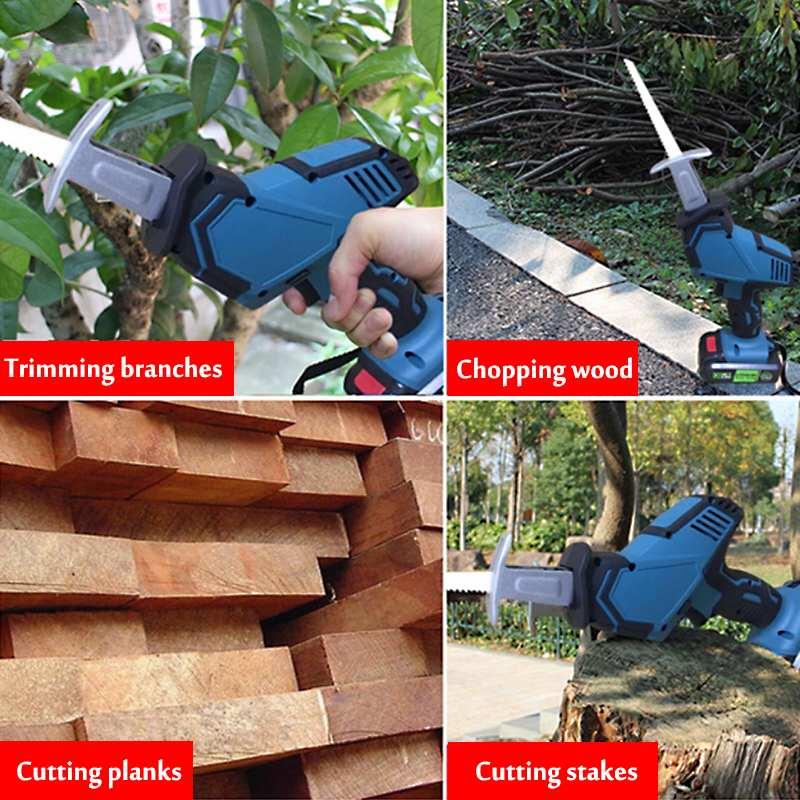 LANNERET 900 Вт электрическая сабельная пила деревообрабатывающая металлическая режущая сабельная ручная пила с переменной скоростью многофун... - 2