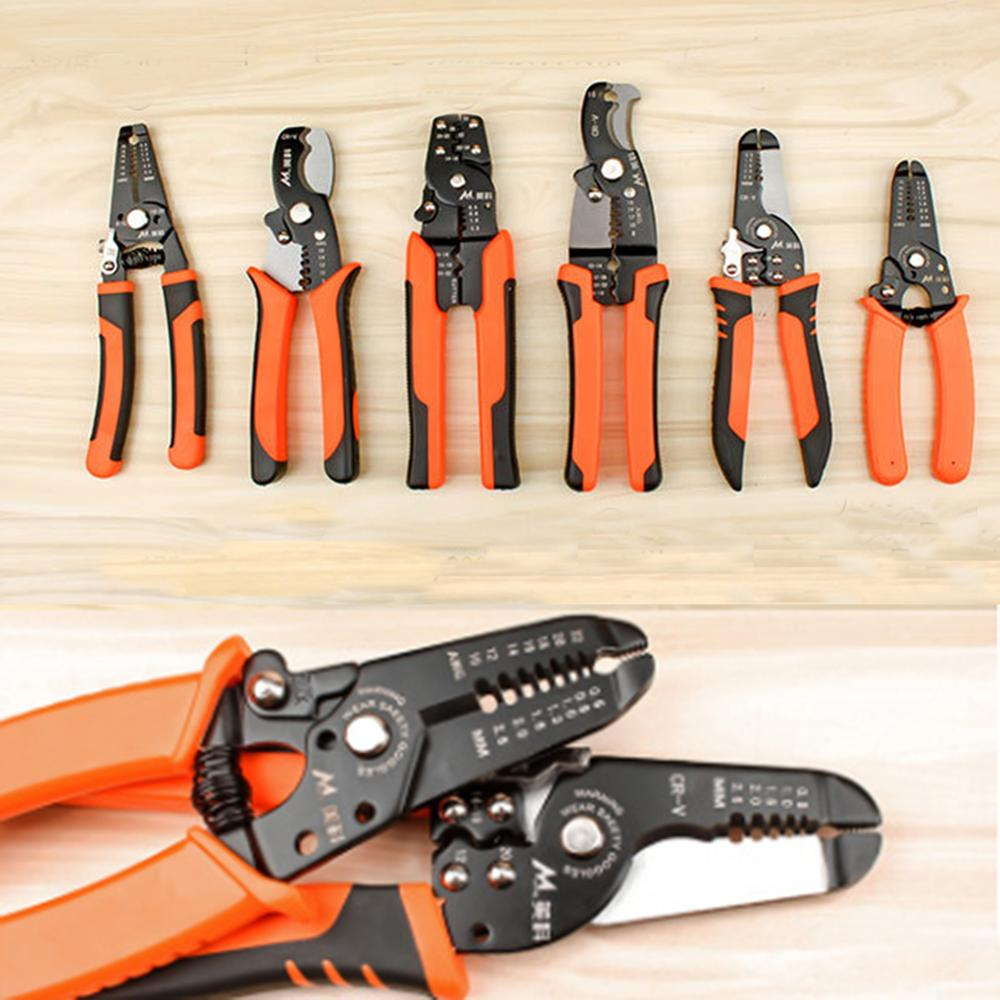 Multifunctional Useful Cable Wire Stripper Cutter Crimper Automatic Terminal Crimping Plier Tools Manganese Alloy