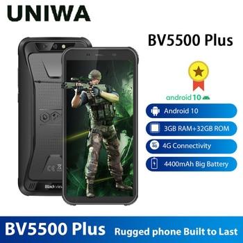 Blackview BV5500 Plus IP68 Waterproof Rugged Smartphone 4G Mobile Phone 3GB 32GB Android 10.0 5.5