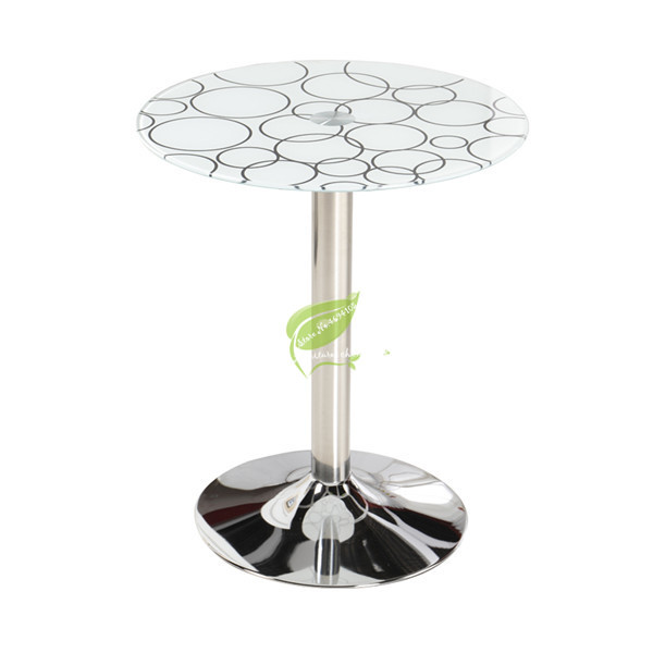 Fashion Conference <font><b>Table</b></font> Round Tempered Glass <font><b>Coffee</b></font> <font><b>Table</b></font> Corner Balcony <font><b>Cafe</b></font> Leisure Reception Living Room <font><b>Table</b></font> Furniture image