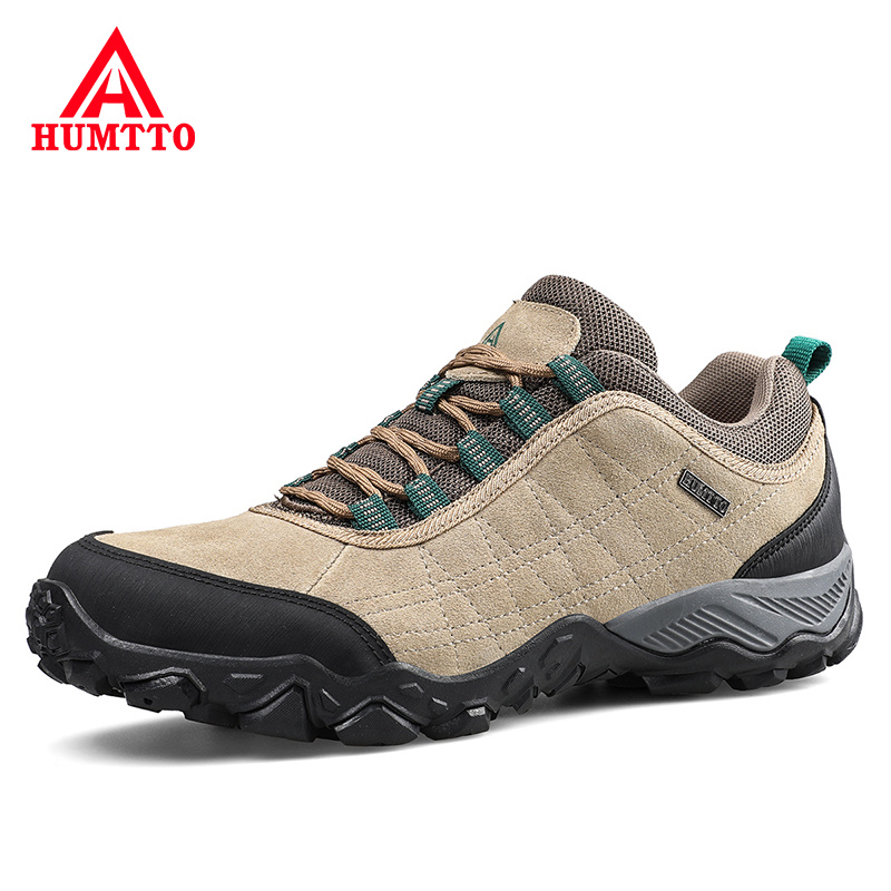 Brand Designer Leather Shoes Men Outdoor Work Safety Man Sneakers Breathable Non-slip Spring Hot Sale Lace-up Casual Mens Shoes