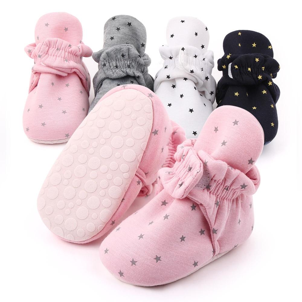 Boy Girl Warm Anti-slip Comfort Soft Baby Socks Shoes First Walkers Booties