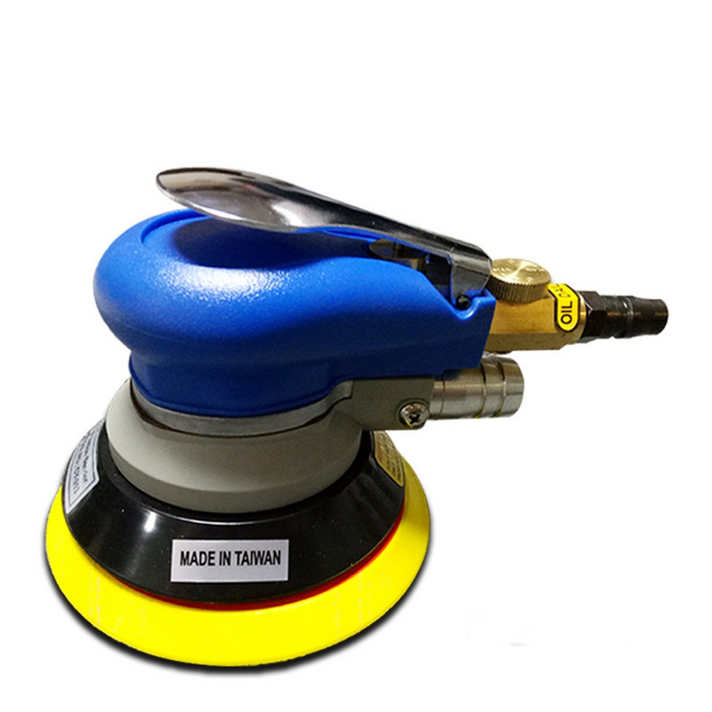 5 Inch Air Sander Polished Grinding Machine Non-Vacuum Matte Surface Circular Pneumatic Sandpaper Random Orbital  Hand Tools