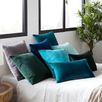 Super Soft Cushion Cover Velvet Pillow Cover For Sofa Living Room Housse De Coussin 45*45 Decorative Pillows Nordic Home Decor black pillow cover geometric cushion cover sofa nordic pillowcase decorative pillows 45 45 home decor housse de coussin