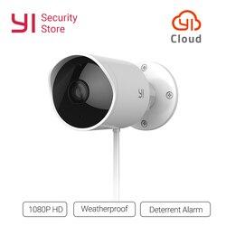 YI cámara de seguridad impermeable al aire libre 1080p resolución IP inalámbrica visión nocturna sistema de vigilancia de seguridad Cloud Cam CCTV WiFi