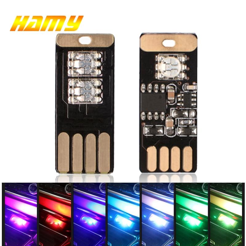 Светодиодный USB декоративный светильник для салона автомобиля, мини-маленький USB светодиодный RGB клубный дискотечный волшебный сценический...