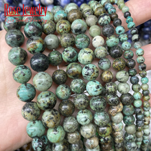 AAAAA Natural African Turquoises Beads Round Loose Stone Beads 15