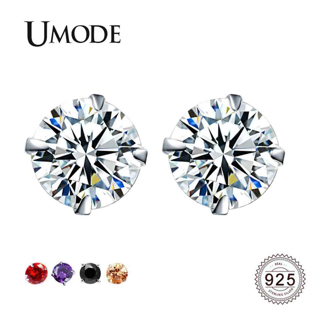 UMODE Women Kids Girls Small Sterling Silver 925 Stud Earrings Korean Jewelry Earings Studs Accessory zilveren oorbellen ULE0285