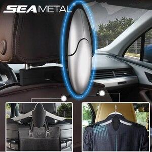 Image 1 - Auto Kleiderbügel für Anzüge Mantel Kleidung Halter Universal Auto Sitz Haken Schrumpf Auto Organizer Halterungen Auto Innen Zubehör