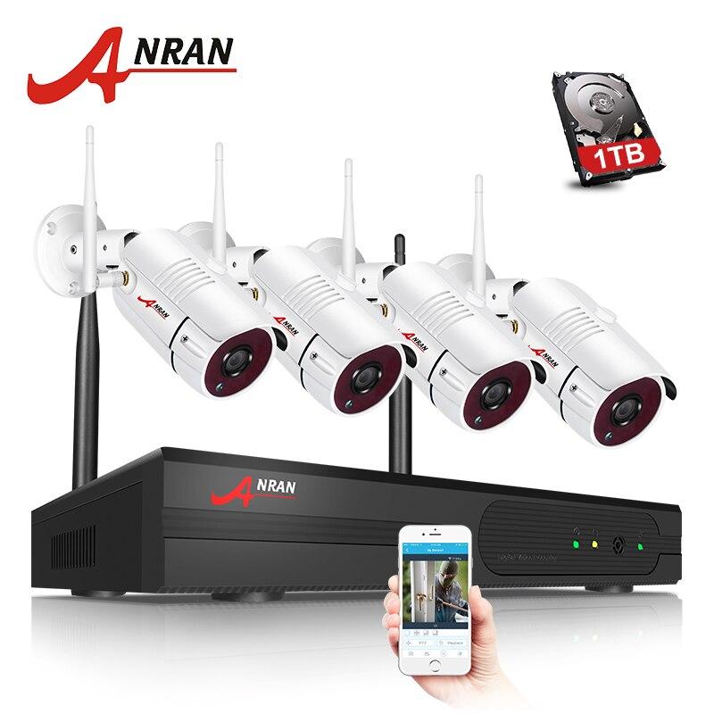 Système de caméra de vidéosurveillance ANRAN Wifi 1080P NVR Kit 4CH 1080P HD caméra IP système de caméra de sécurité de Vision nocturne en plein air