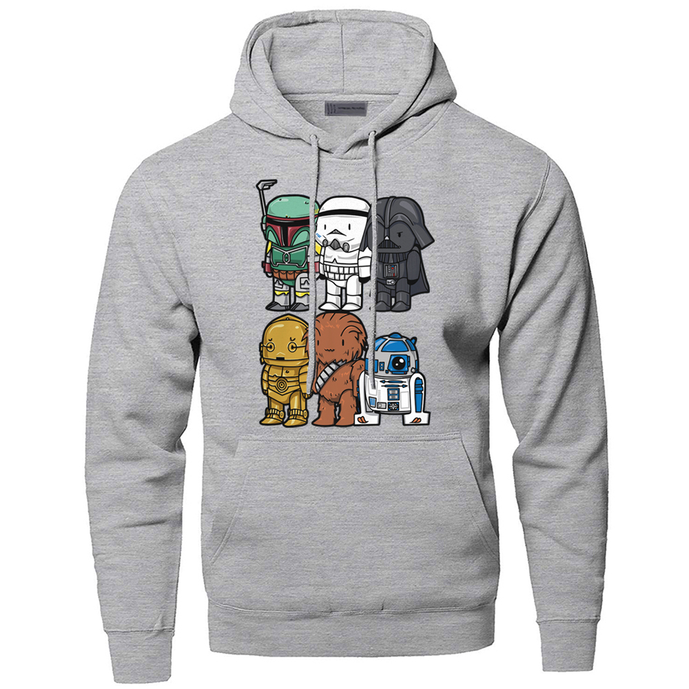 Star Wars Hoodies Sweatshirts Men Yoda Darth Vader Hooded Sweatshirt Hoodie Winter Autumn Fleece Streetwear Starwars Sportswear