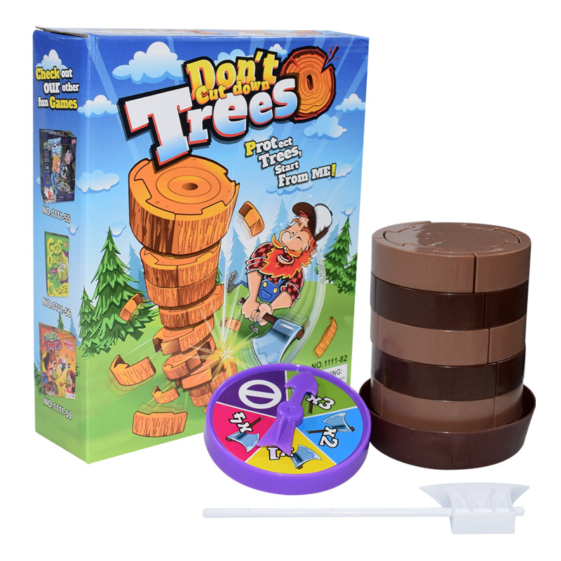 New Board Game Felling Tree Toys Cut Tree Grapefruit Lumberjack Parent-Child Toy Interaction Mathematics Calculation Double Toys