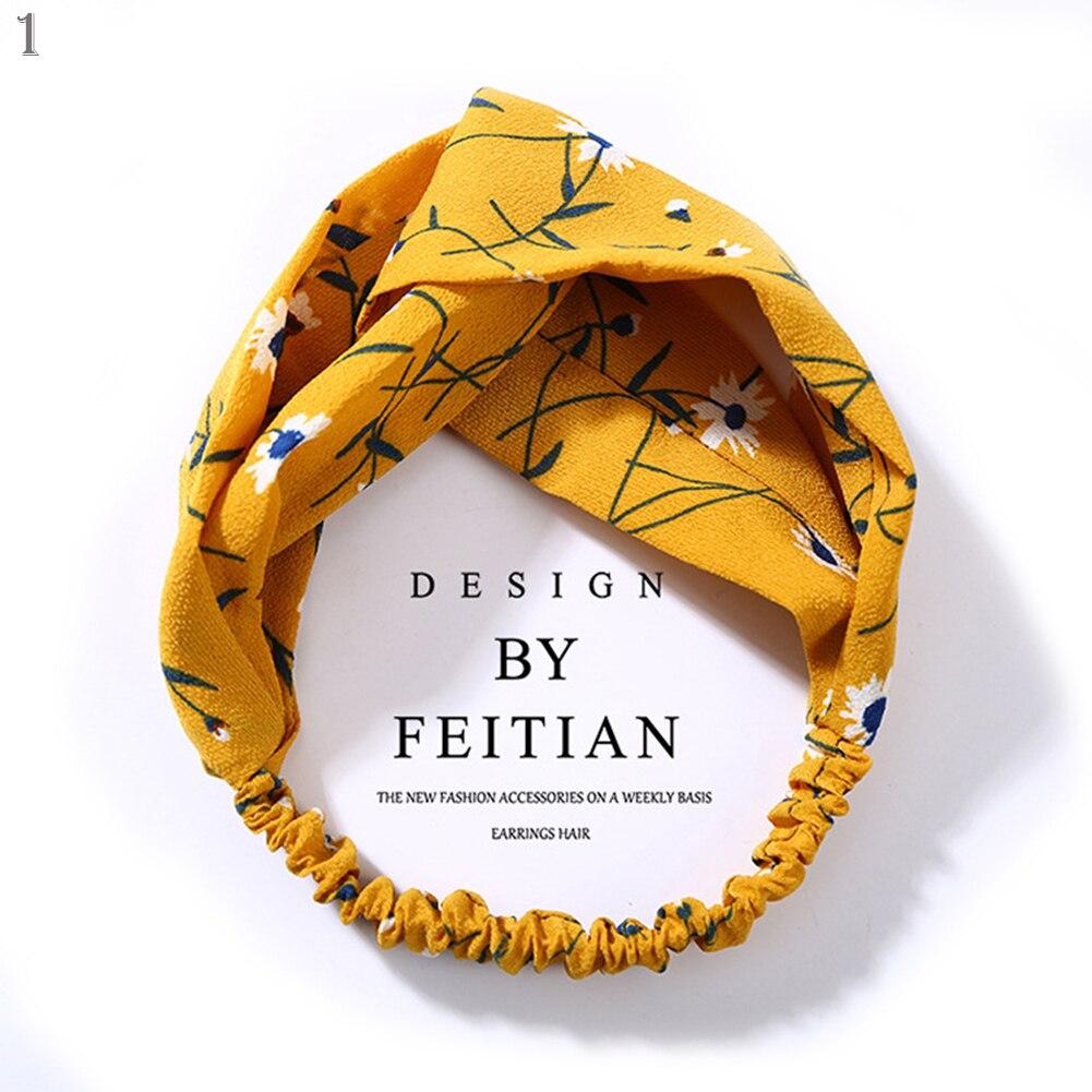 2020 Korean Style Summer Lovely Hairband Women Hair Accessories Turban Twist Cross Headwrap Girl Floral Elastic Knotted Headwear