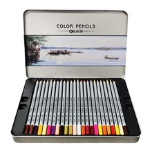 48 Colouring Pencils for Children, Drawing Coloured Pencils Art Supplies in Tin Case for Coloring Books for Kids