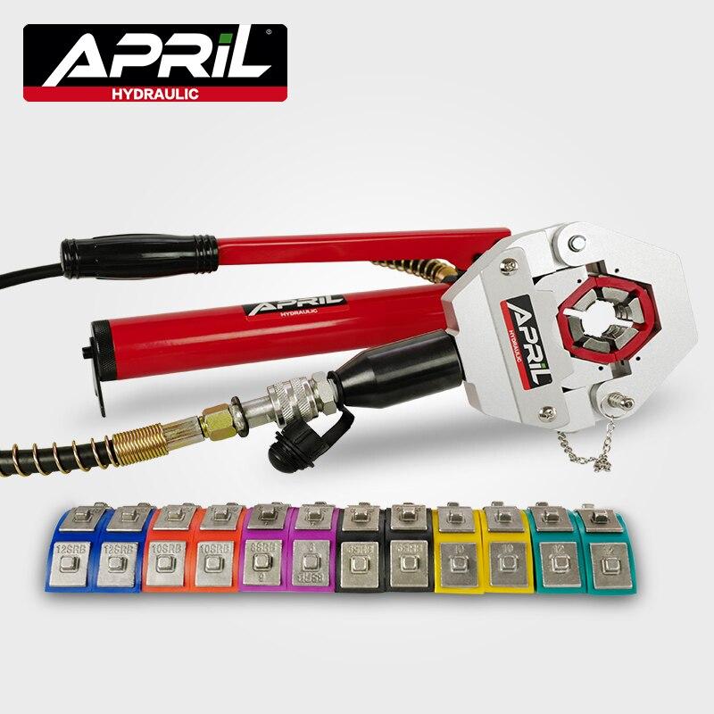 Гидравлический шланг, щипцы Hydra-Krimp 7842B, ручной обжимной инструмент для ремонта шлангов