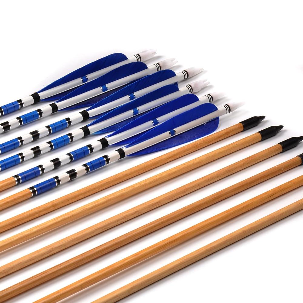 Tiro Com Arco Azul Pena Preta Com