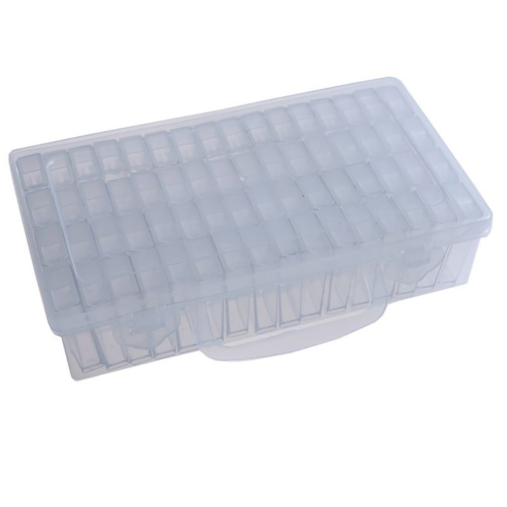 64 Grids Diamond Painting Box Tools Beads Container Resin Daimant Embroidery Stone Storage Accessory Mosaic Convenience Box