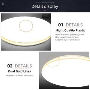 Image 5 - LED תקרת אור 72W 36W למטה אור משטח הר פנל מנורת AC 220V 3 צבעים שינוי מודרני מנורת לעיצוב בית תאורה
