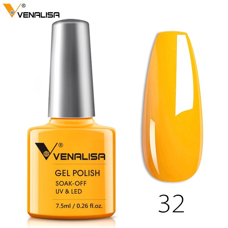 Venalisa Fashion Bling 7.5 ML Soak Off UV Gel Nail Gel Polish Cosmetics Nail Art Manicure Nails Gel Polish Shellak Nail Varnish(China)