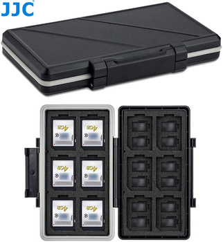 JJC 36 Slots Memory Card Case Holder Storage Box Organizer for 12 SD SDHC SDXC + 24 MSD Micro SD TF Card Wallet Keeper Protector 1