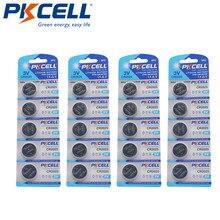 PKCELL 2025 – piles bouton 3 v, 20 pièces, piles au lithium, pièces de monnaie